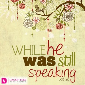 While he was still speaking