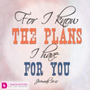 For I know the plans I have for you