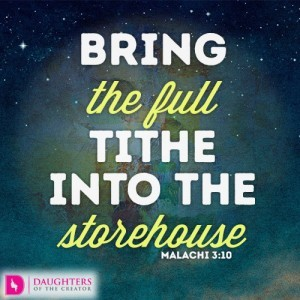 Bring the full tithe into the storehouse
