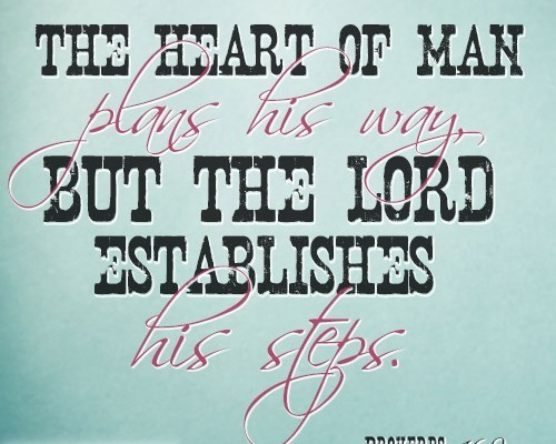 The heart of man plans his way, but the LORD establishes his steps