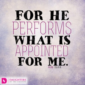 For He performs what is appointed for me