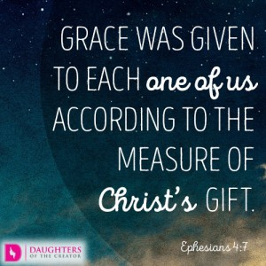 grace was given to each one of us according to the measure of Christ's gift