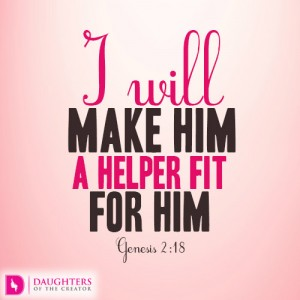I will make him a helper fit for him