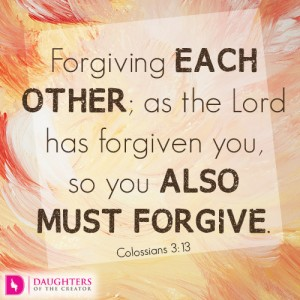 Forgiving each other; as the Lord has forgiven you, so you also must forgive