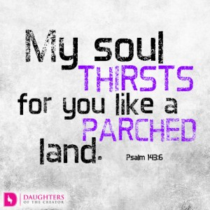 My soul thirsts for you like a parched land