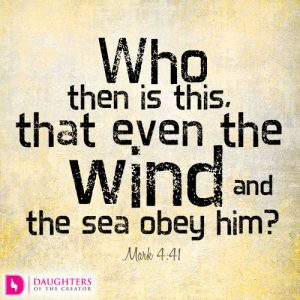 Who then is this, that even the wind and the sea obey him