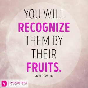 You will recognize them by their fruits.