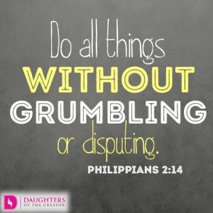Do all things without grumbling or disputing
