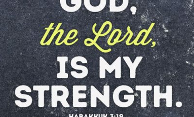 GOD, the Lord, is my strength