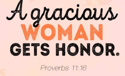 A gracious woman gets honor