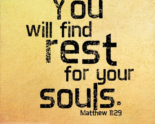 You will find rest