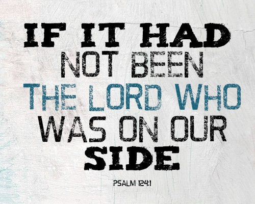 If it had not been the LORD who was on our side