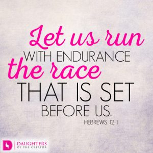 Let us run with endurance the race that is set before us