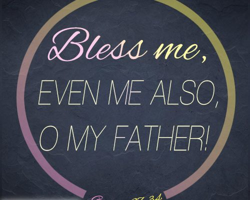 Bless me, even me also, O my father