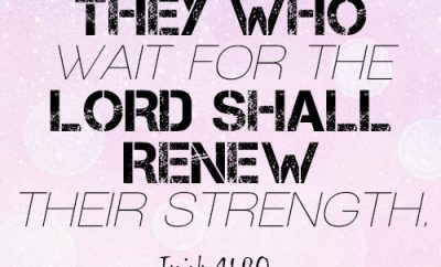 they who wait for the LORD shall renew their strength