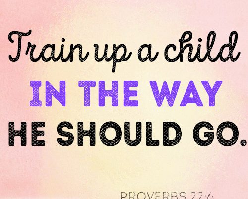 Train up a child in the way he should go