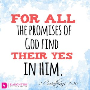 For all the promises of God find their Yes in him2