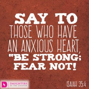 Say to those who have an anxious heart3