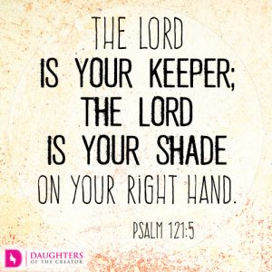 The LORD is your keeper; the LORD is your shade on your right hand