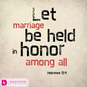 Let marriage be held in honor among all