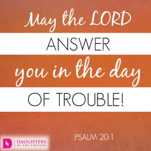 May the LORD answer you in the day of trouble!