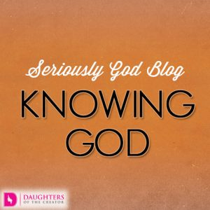 Seriously God Blog - Knowing God